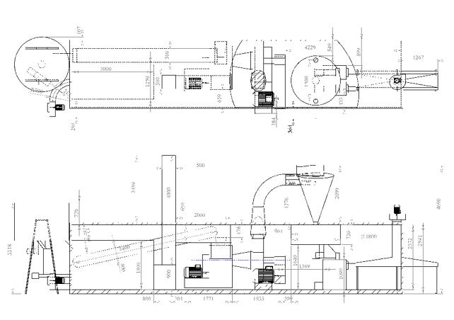 Схема расположения оборудования вконтейнере
